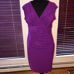 Women's Purple Kasper Dress
